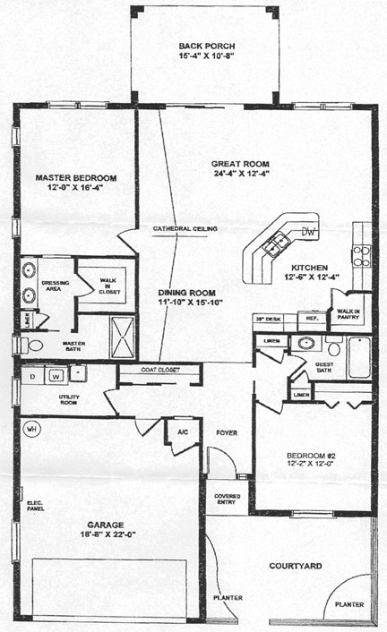 Layout of the Casa Del Lago floorplan